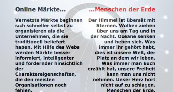 Cluetrain Manifesto - die Onlinerin