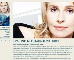 Eva Lind Musikakademie betreut durch onlinerin.at