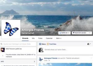 Amorgos Friends ein Facebook Community Projekt von onlinerin.at