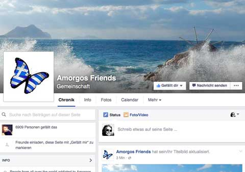 Amorgos Friends ein Facebook Community Projekt von onlinerin.at