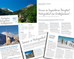 Heiligenblut Häuser Katalog Texte byonlinerin
