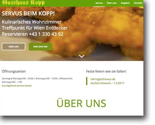 Gasthaus Kopp mit einem neuen Webauftritt von der Onlinerin